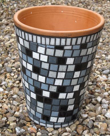 mosaic flowerpot