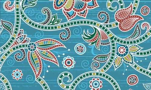 Blue textile design