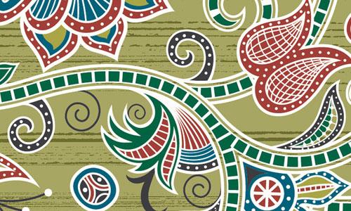green-textile-design