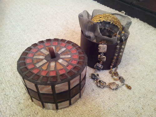 mosaic trinket box