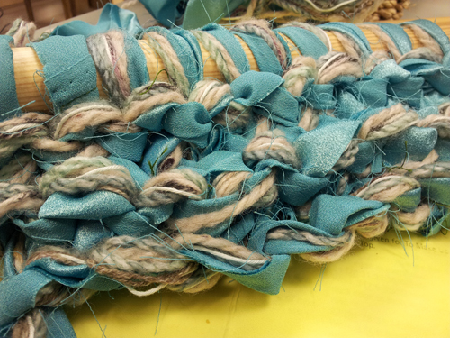 Chunky knitting sample: made using 28mm needles