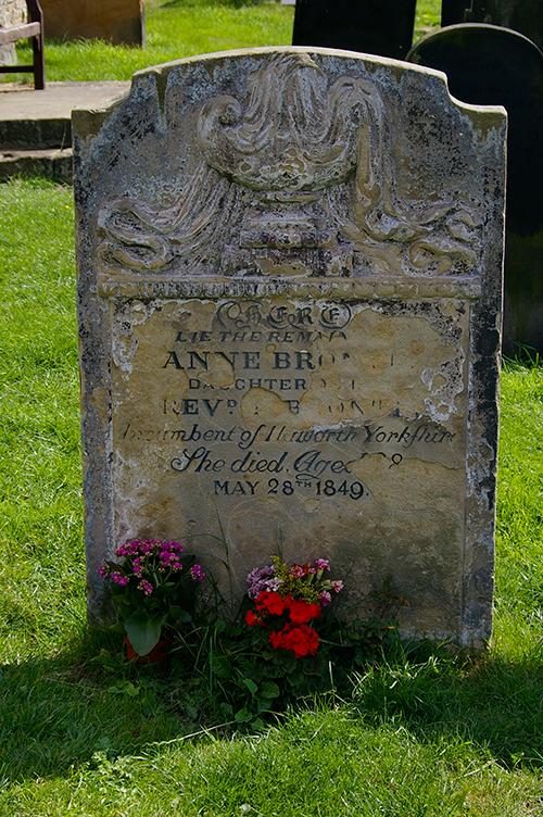 Ann Bronte's grave stone