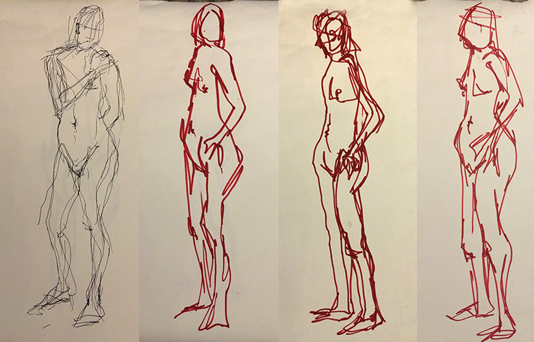 Life-drawing workshop – jo bund