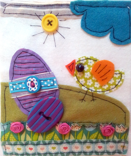 Folk art Easter card