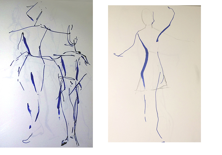 Simple blue line drawing