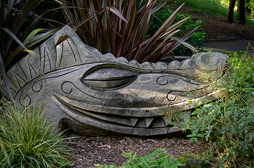 Wood carving in Peasholm Park, Scarborough