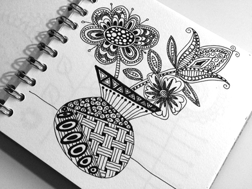 zentangle-flower