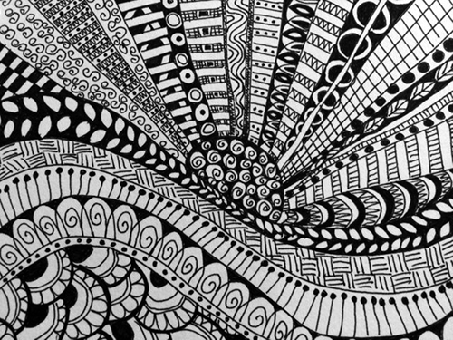 zentangle-wave